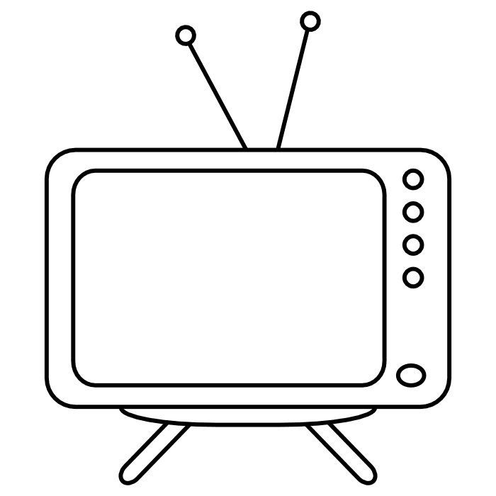 Free tv cliparts download. Television clipart coloring