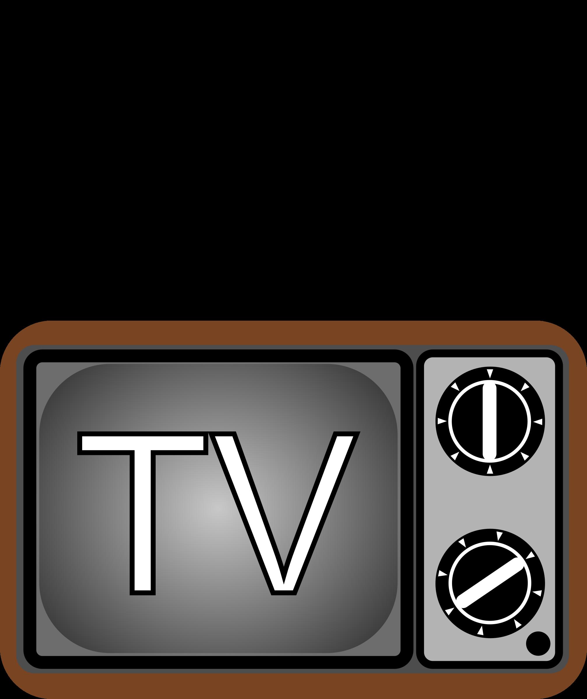 Television big image png. Clipart tv line art