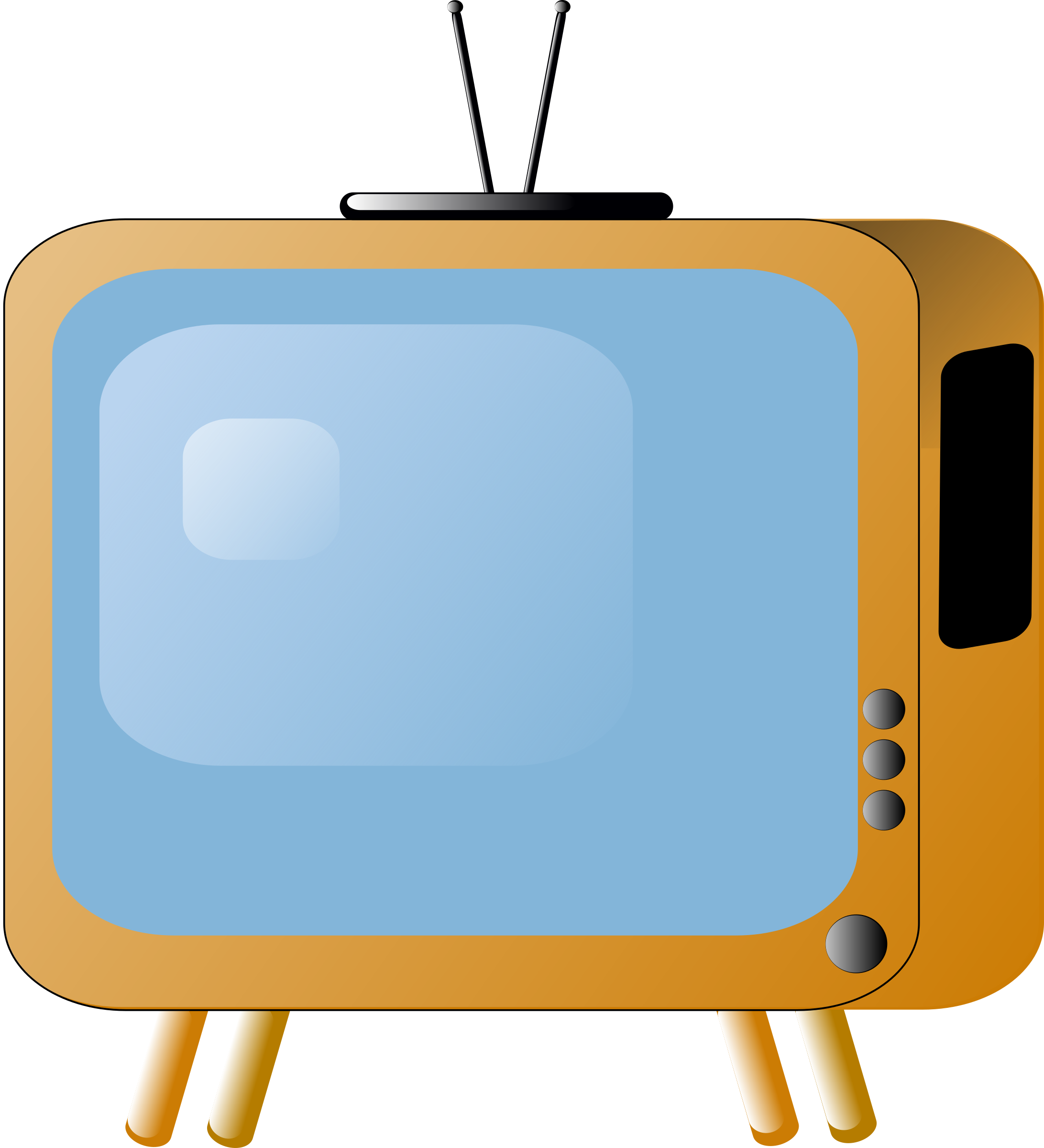 Styled tv set big. Television clipart old fashioned