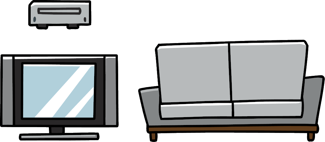 Furniture clipart living room. Image png scribblenauts wiki