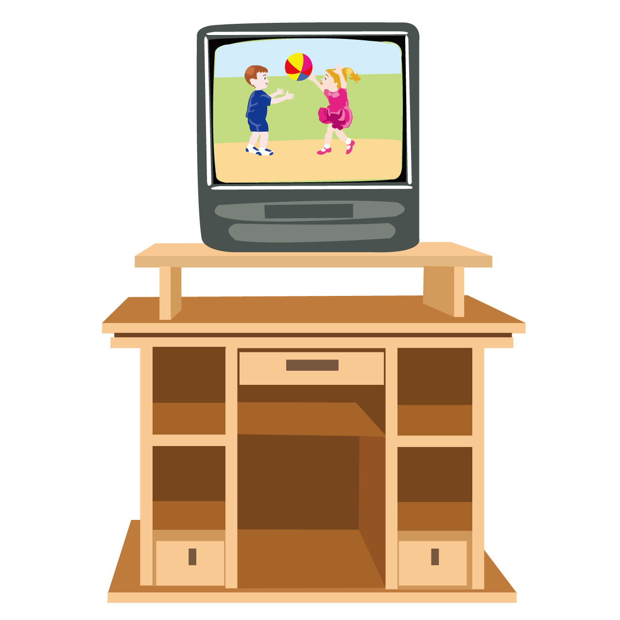 Table furniture cartoon and. Clipart tv living room