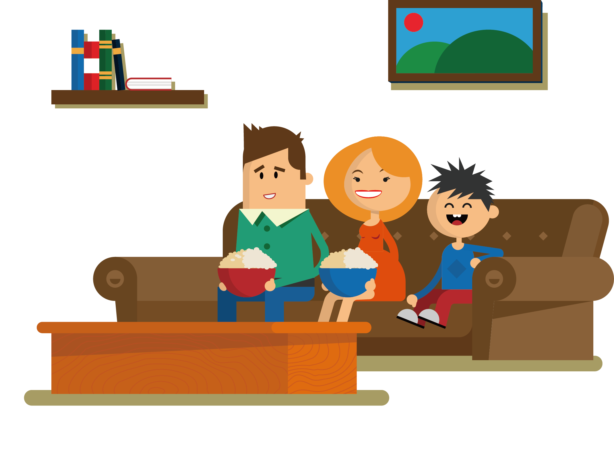 Clipart tv living room. Couch sitting drawing cartoon