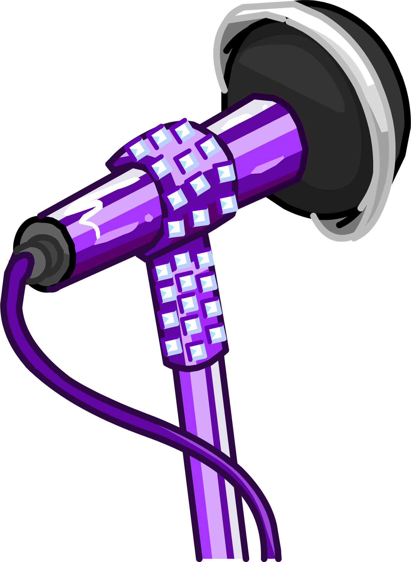 Glitter clipart file. Microphone club penguin wiki