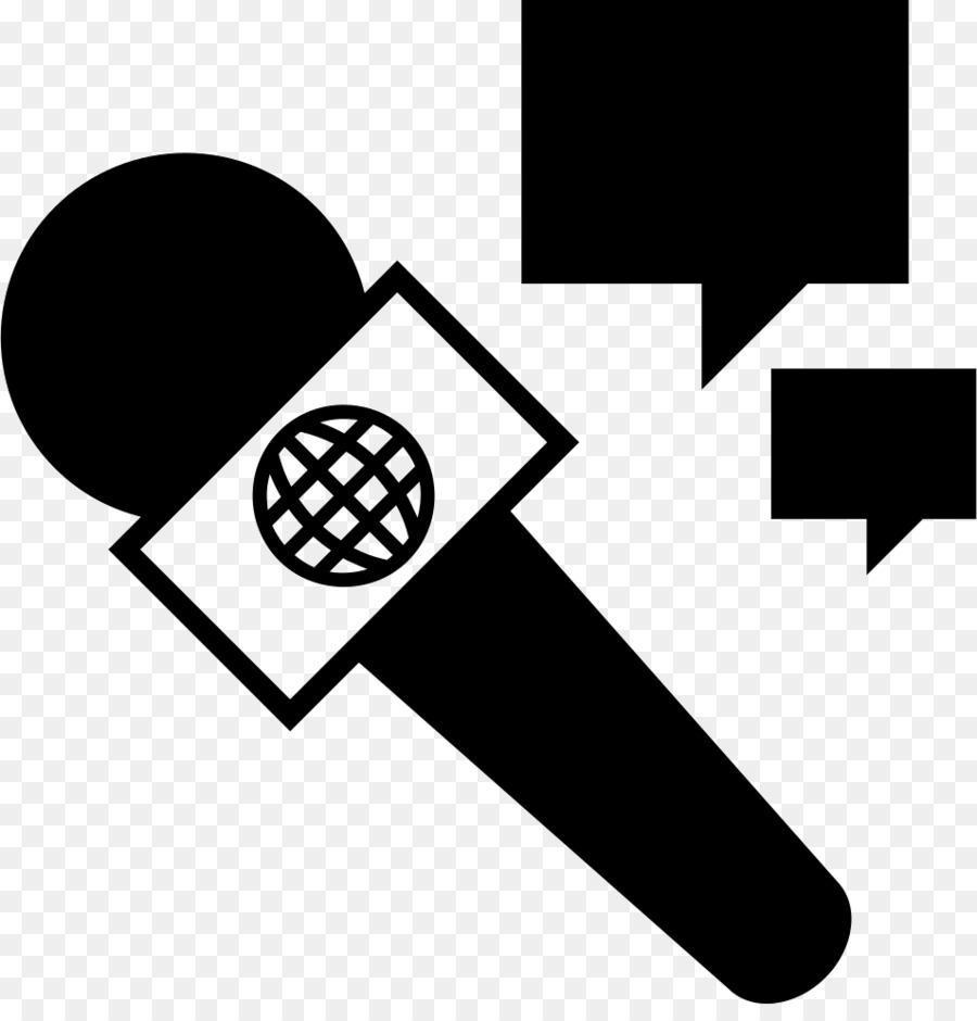 Black line background television. Microphone clipart reporter microphone