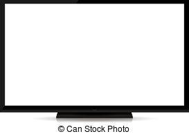 Clipart tv modern. Blank flat screen panda