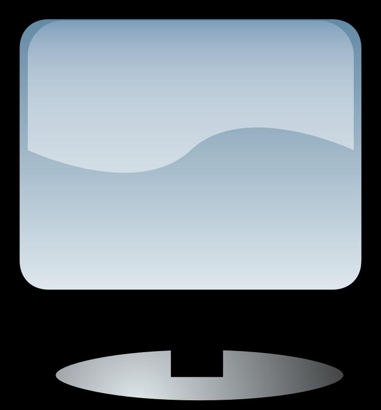 Flat screen medium image. Clipart tv monitor