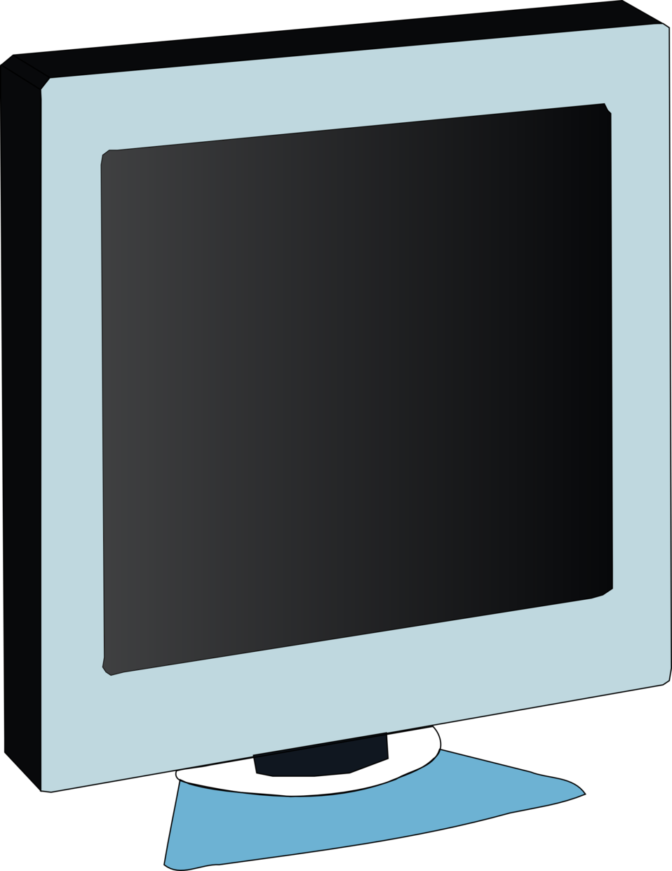 Public domain clip art. Office clipart monitor