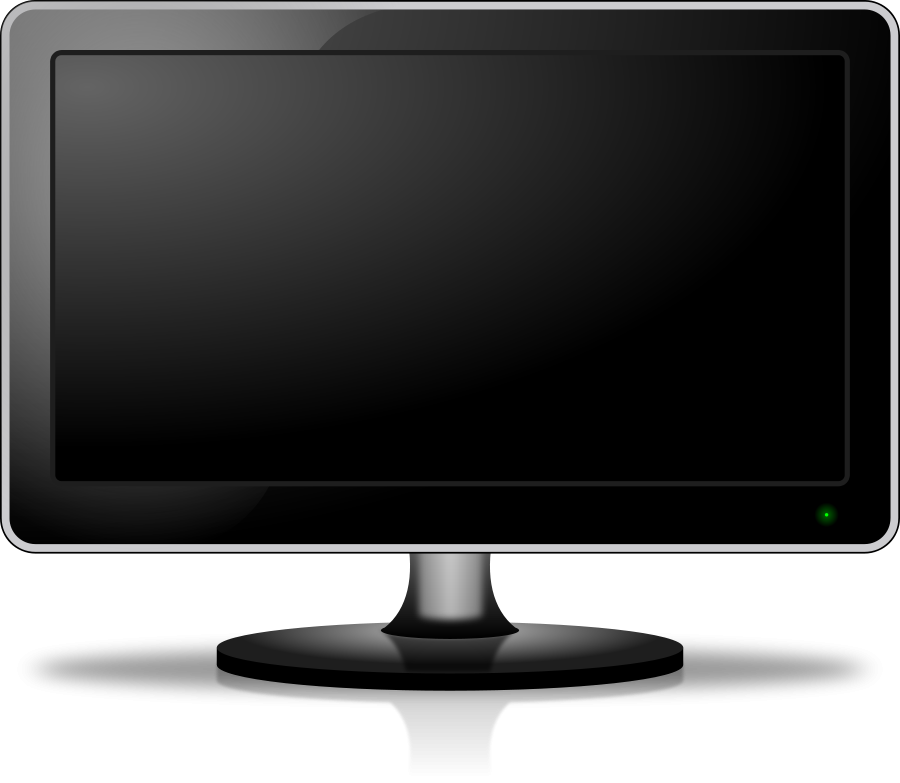 Computer screen panda free. Clipart tv monitor