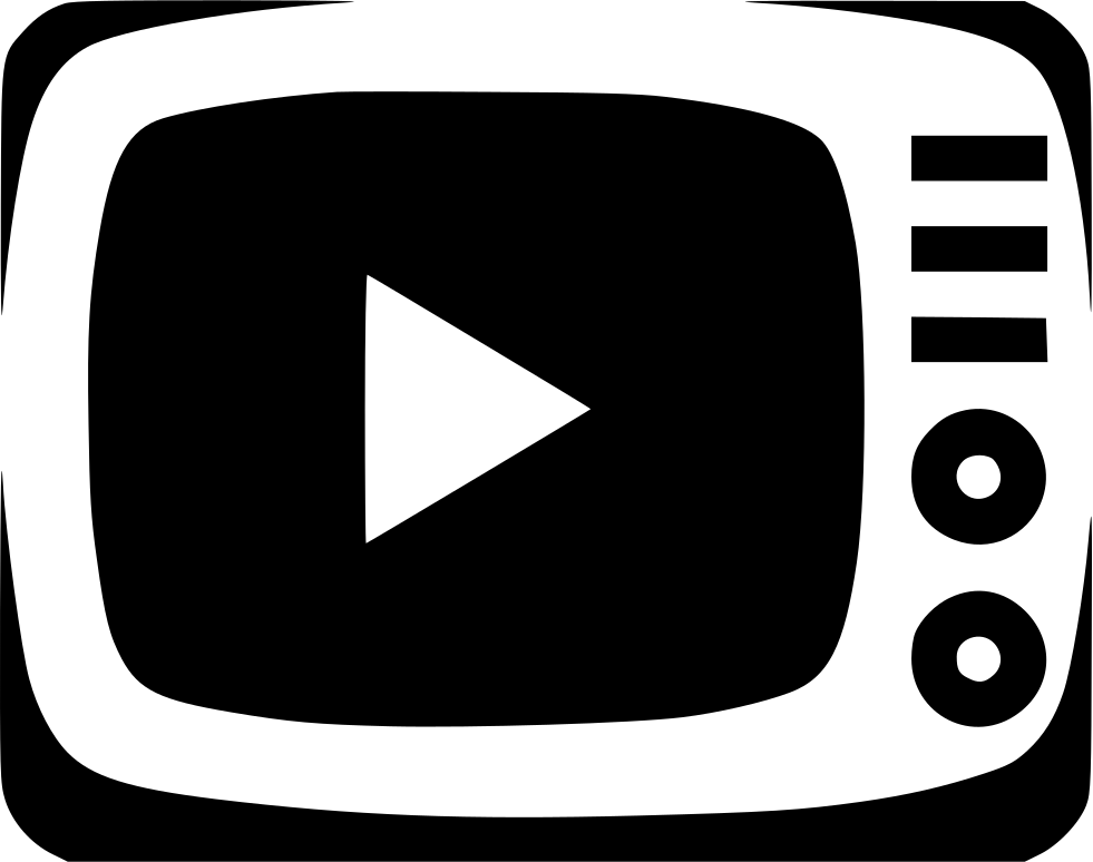 Tv video show svg. Television clipart watch movie