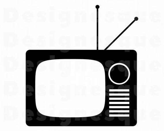 Svg television film retro. Clipart tv movie tv