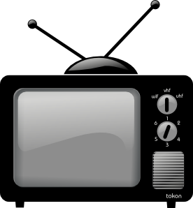 Buying a new on. Television clipart tv station