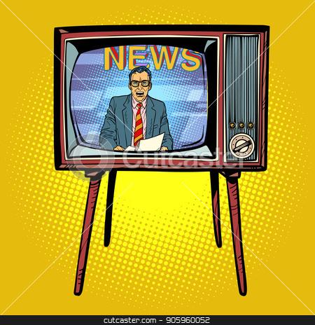 Political on stock vector. Clipart tv news presenter