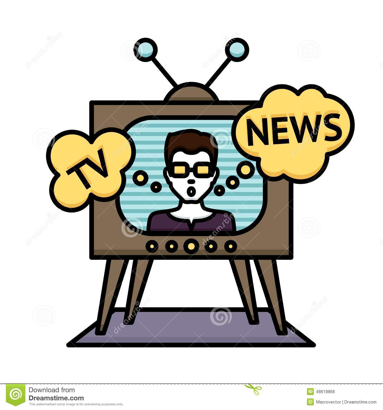 Free download best on. Clipart tv news reporter