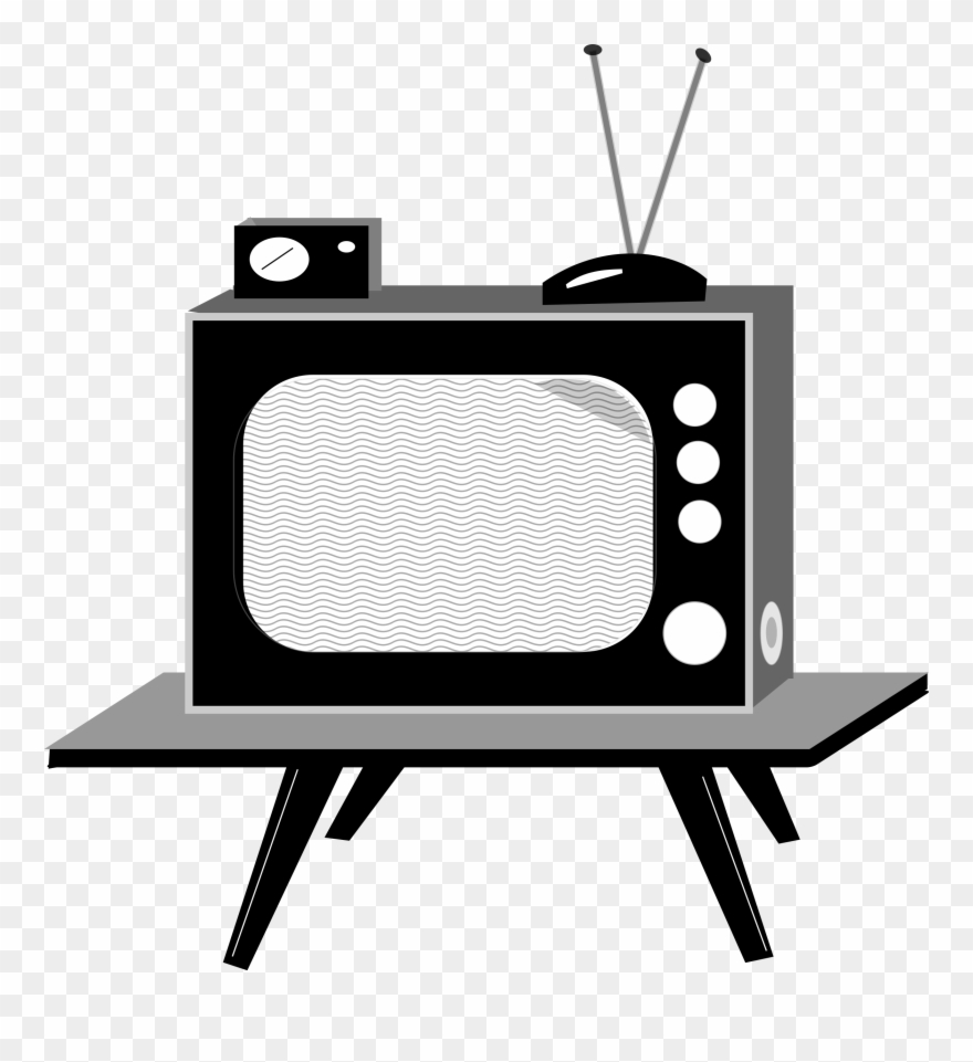 Clipart tv old fashioned tv. Shows school anos png