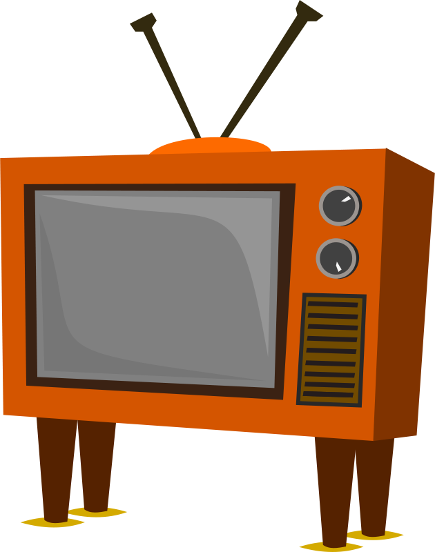 Clipart tv old fashioned tv. Free clip art funky