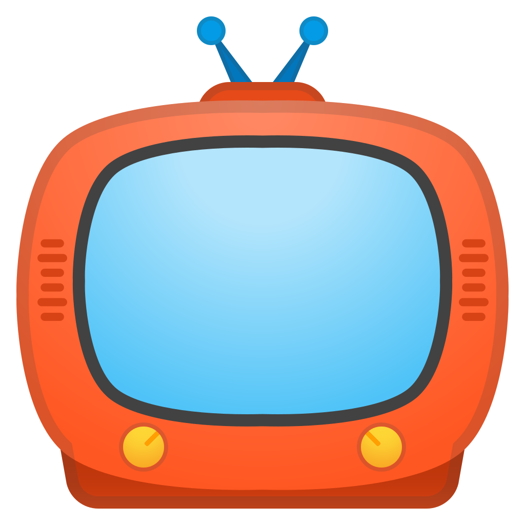 television clipart circle object