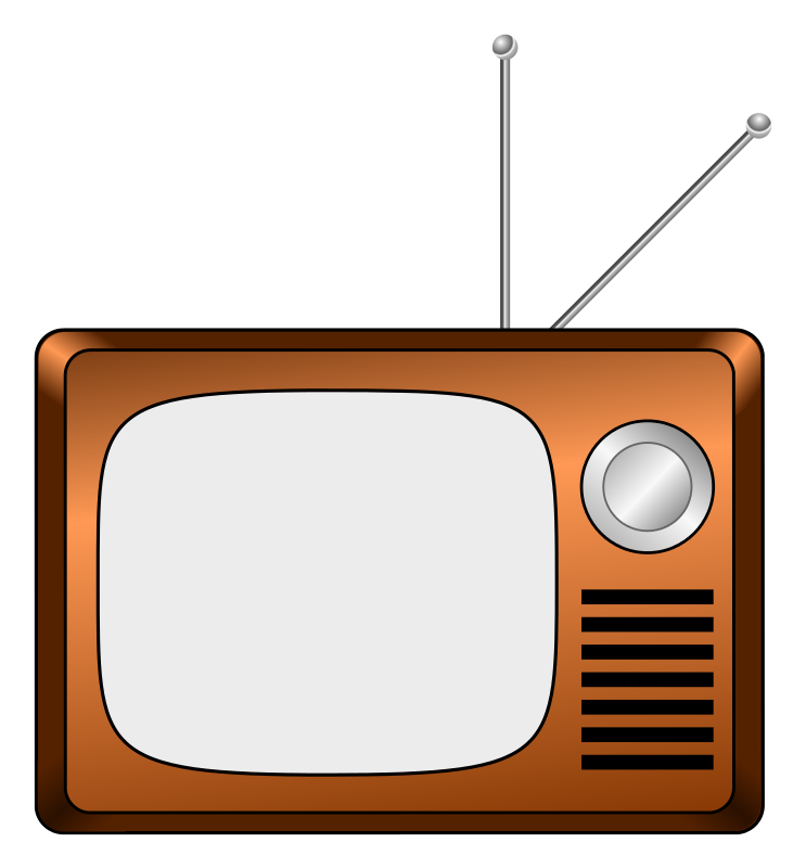 collection of old. Television clipart colour tv