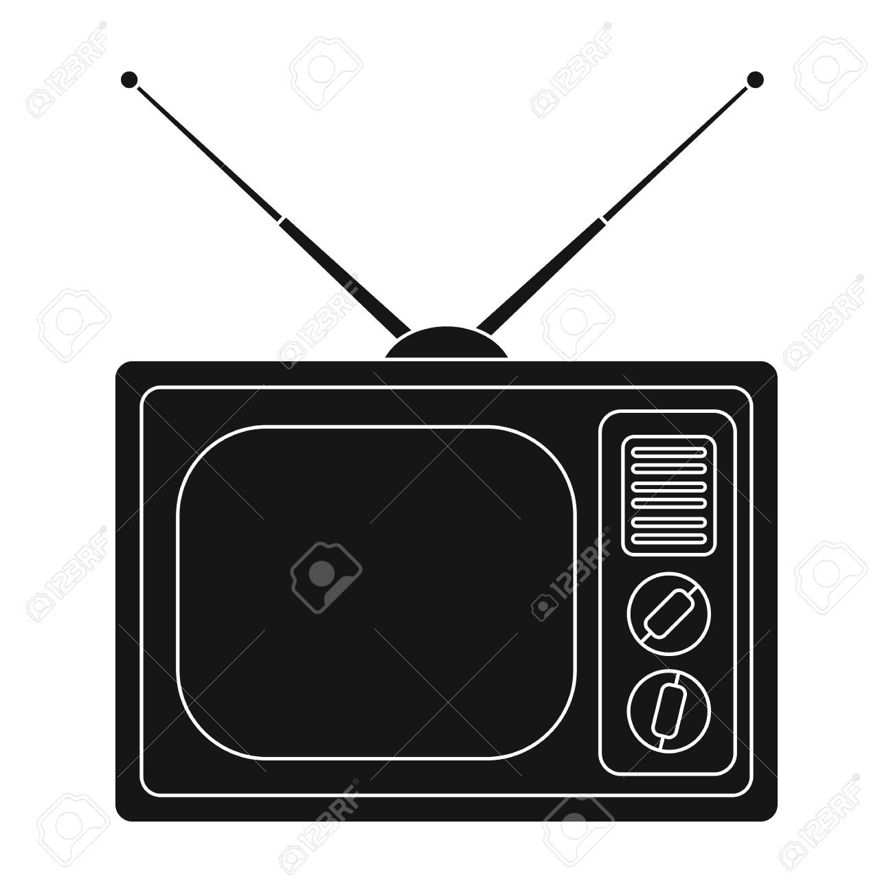 Free download clip art. Clipart tv old style