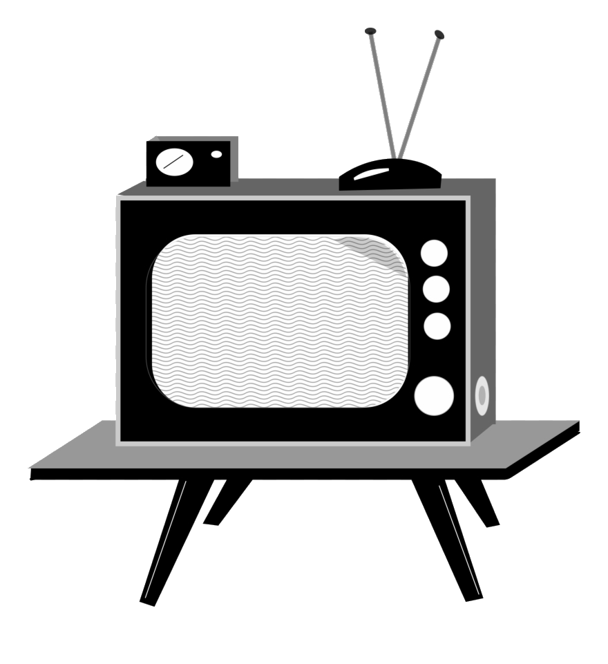 Shows school anos transparent. Clipart tv old technology