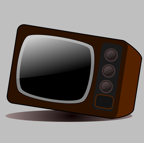 Clipart tv old technology. Clip art at clker