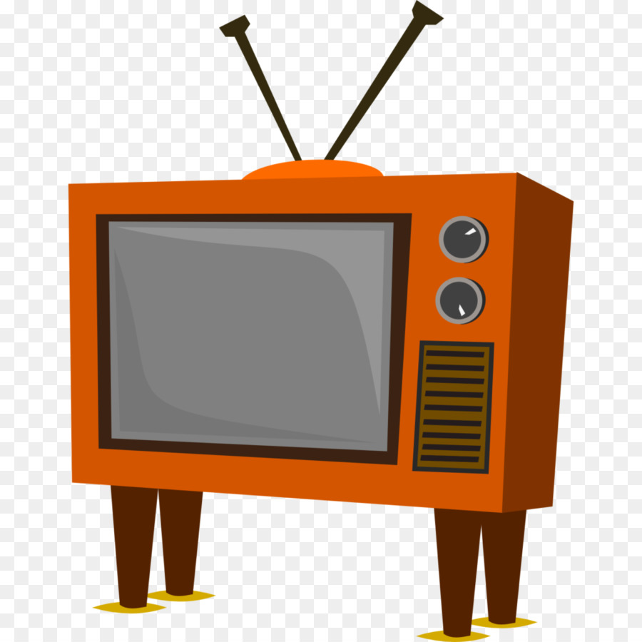 Background television orange product. Clipart tv old technology