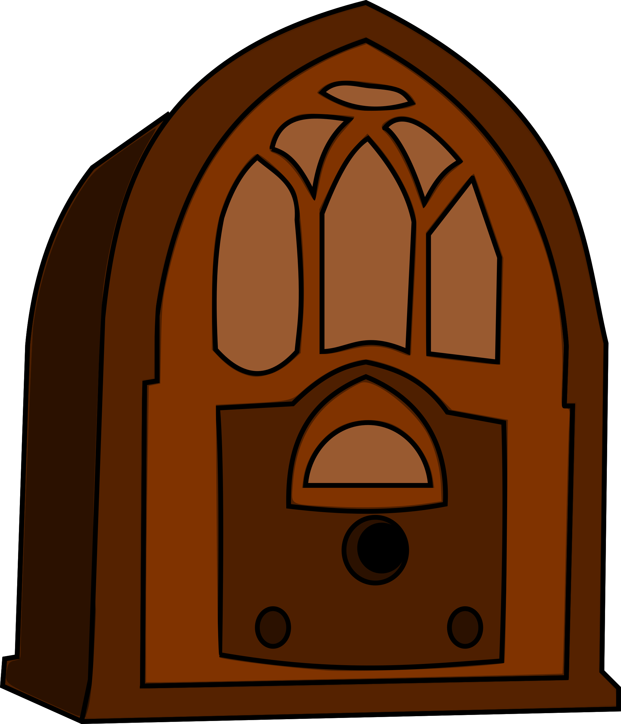 Old time big image. Hand clipart radio