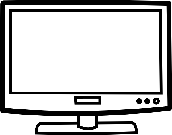 Television clipart outline. Clip art at clker