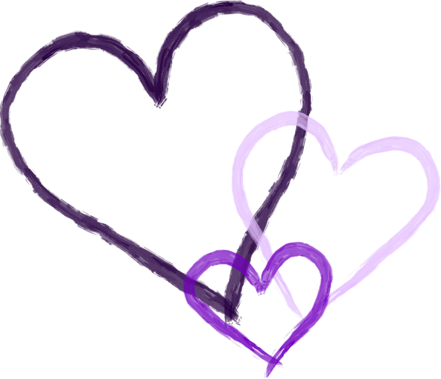 By rockleefreak on deviantart. Purple hearts png