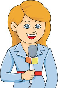 Difference between reporter and. Clipart tv reported