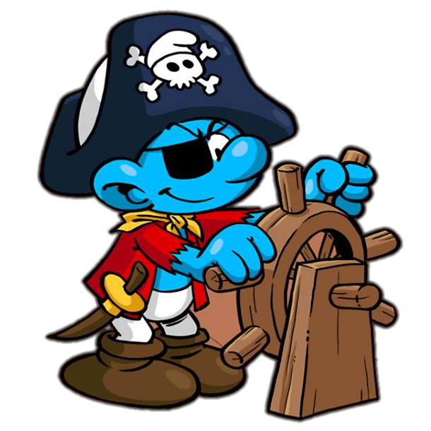 Pirate smurf smurfs pinterest. Clipart tv reported