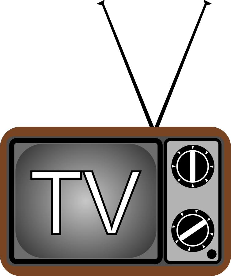 Television clipart tv show. Panda free images televisionclipart