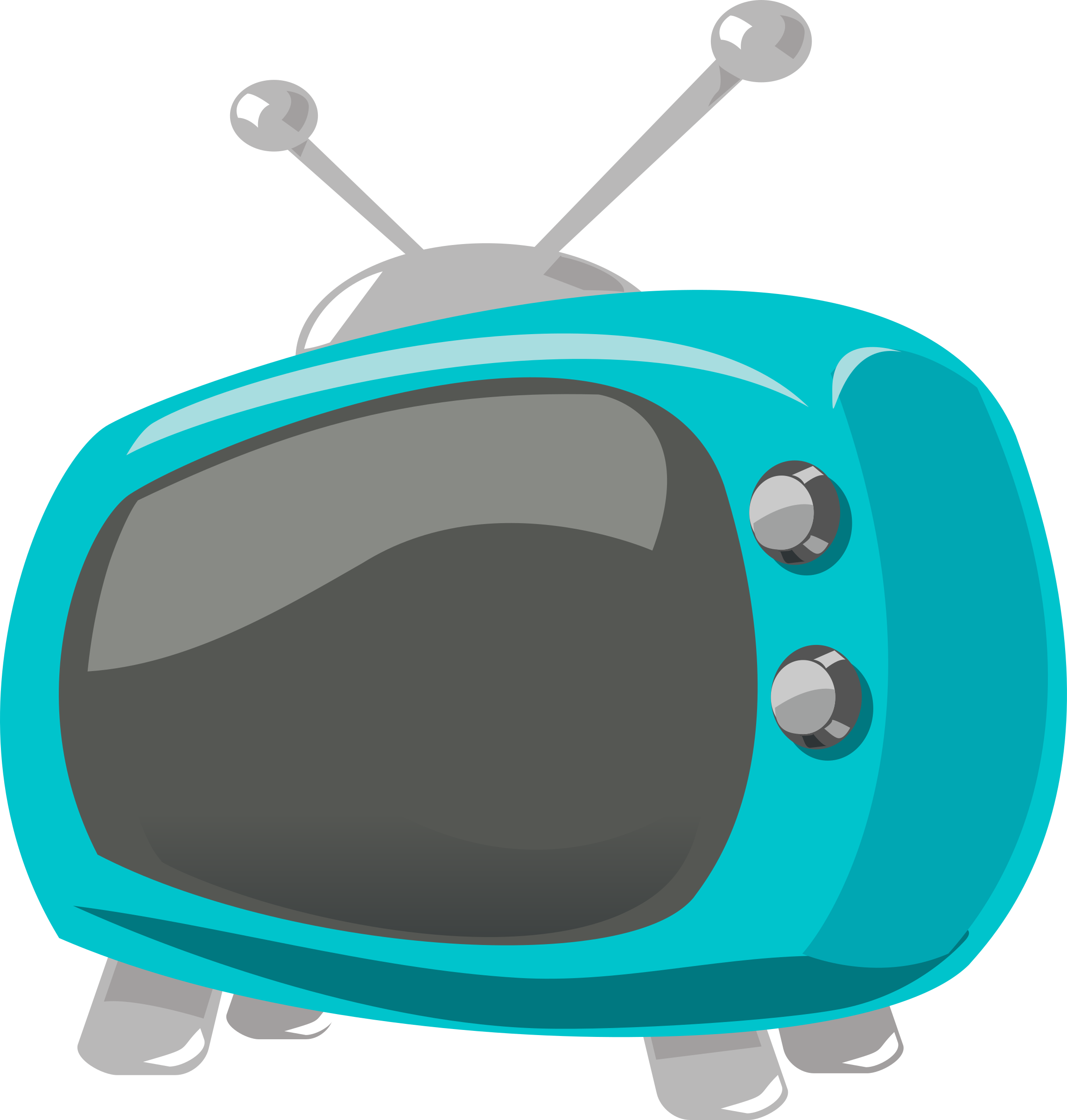 Television comic style big. Clipart tv serial