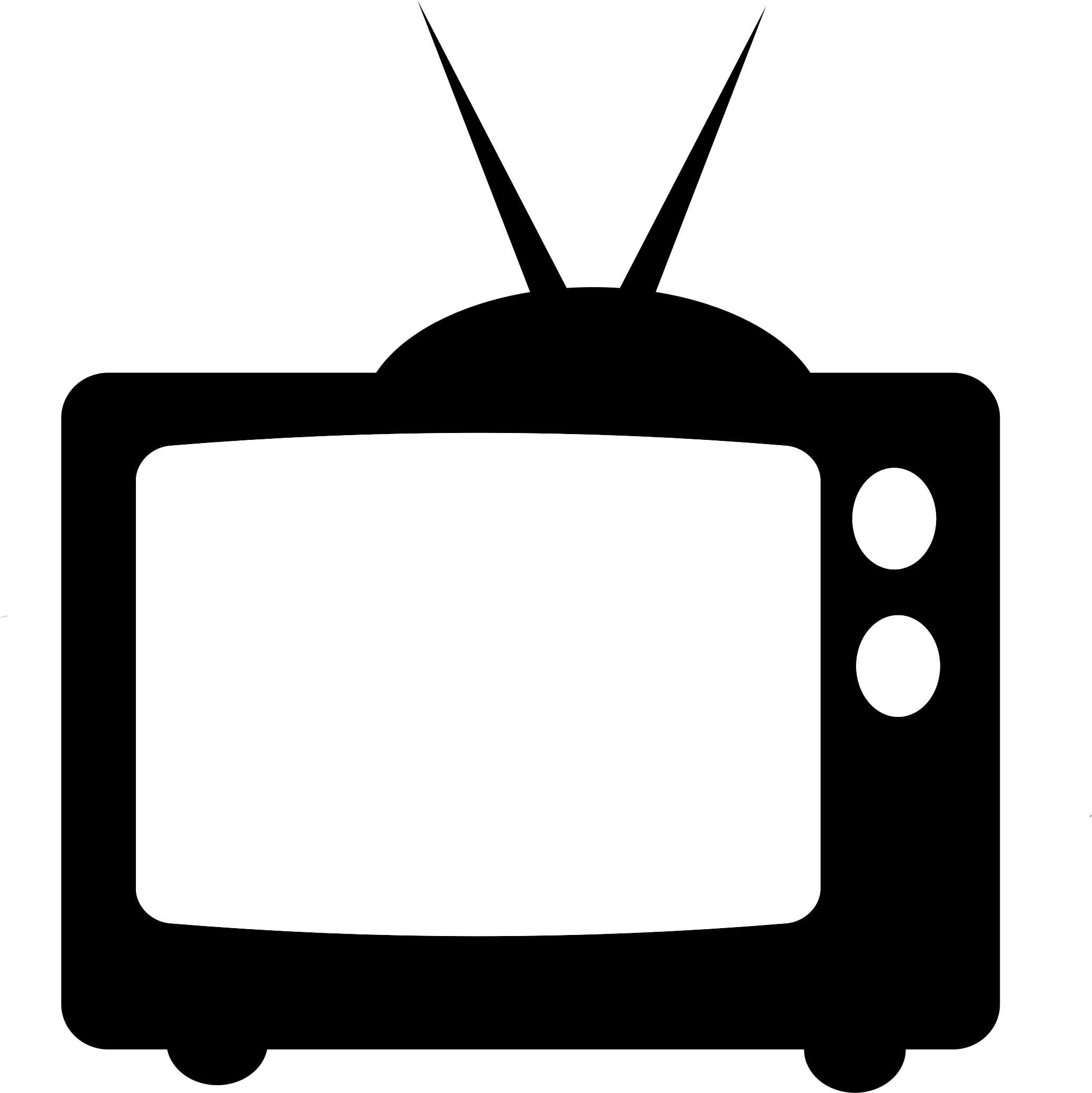 collection of tv. Television clipart telly