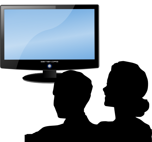 Watching clip art at. Clipart tv small tv