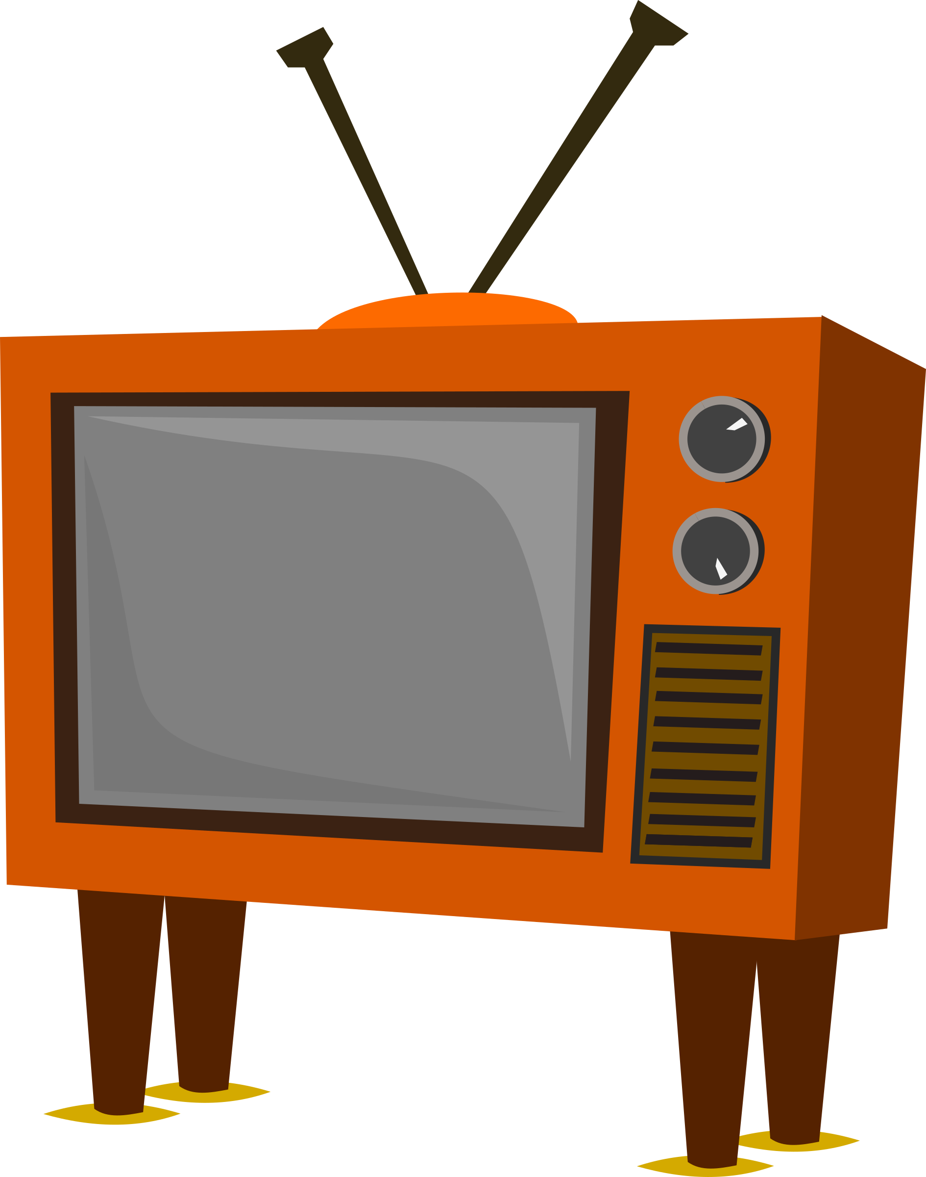 Clipart tv small tv. Funky old big image