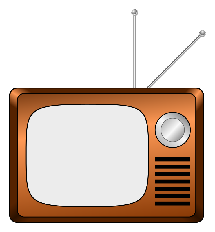 Wooden tv medium image. Television clipart first