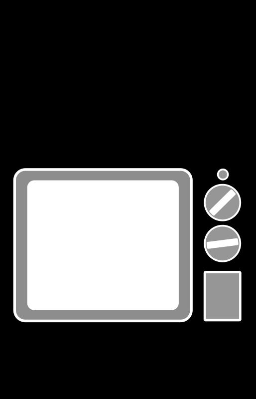 Clipart tv square. Television free stock stockio
