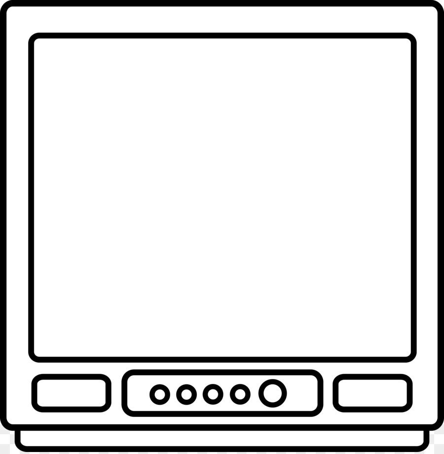 Black and white frame. Clipart tv square