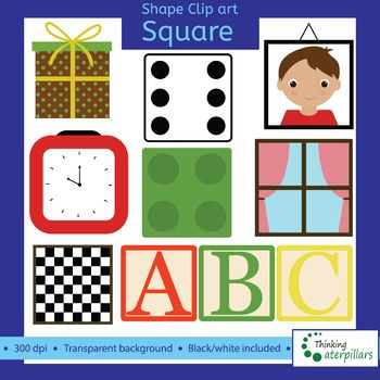 Objects d clip art. Square clipart square object