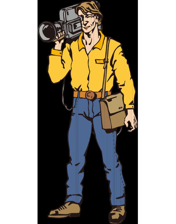 Operator photographer clip art. Television clipart television camera