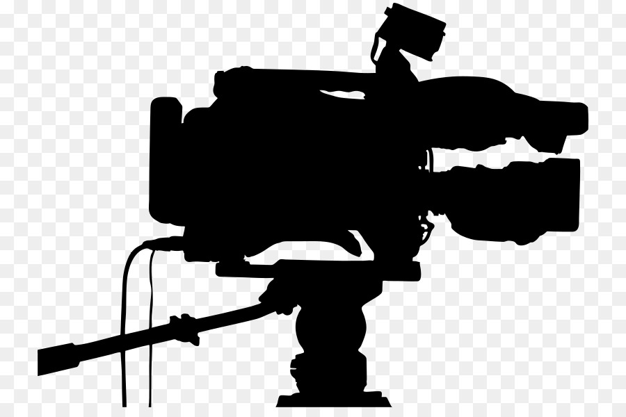 Television clipart television camera. Silhouette transparent