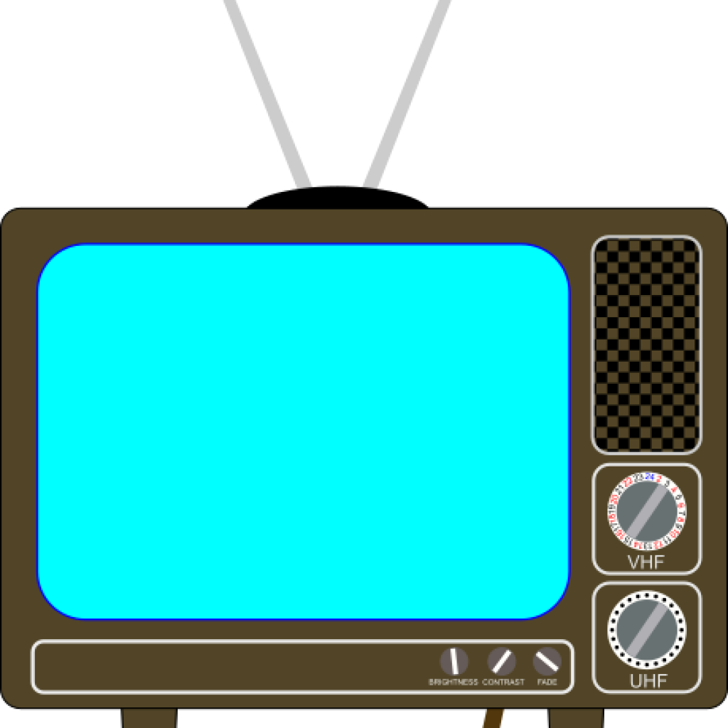 television clipart blue tv
