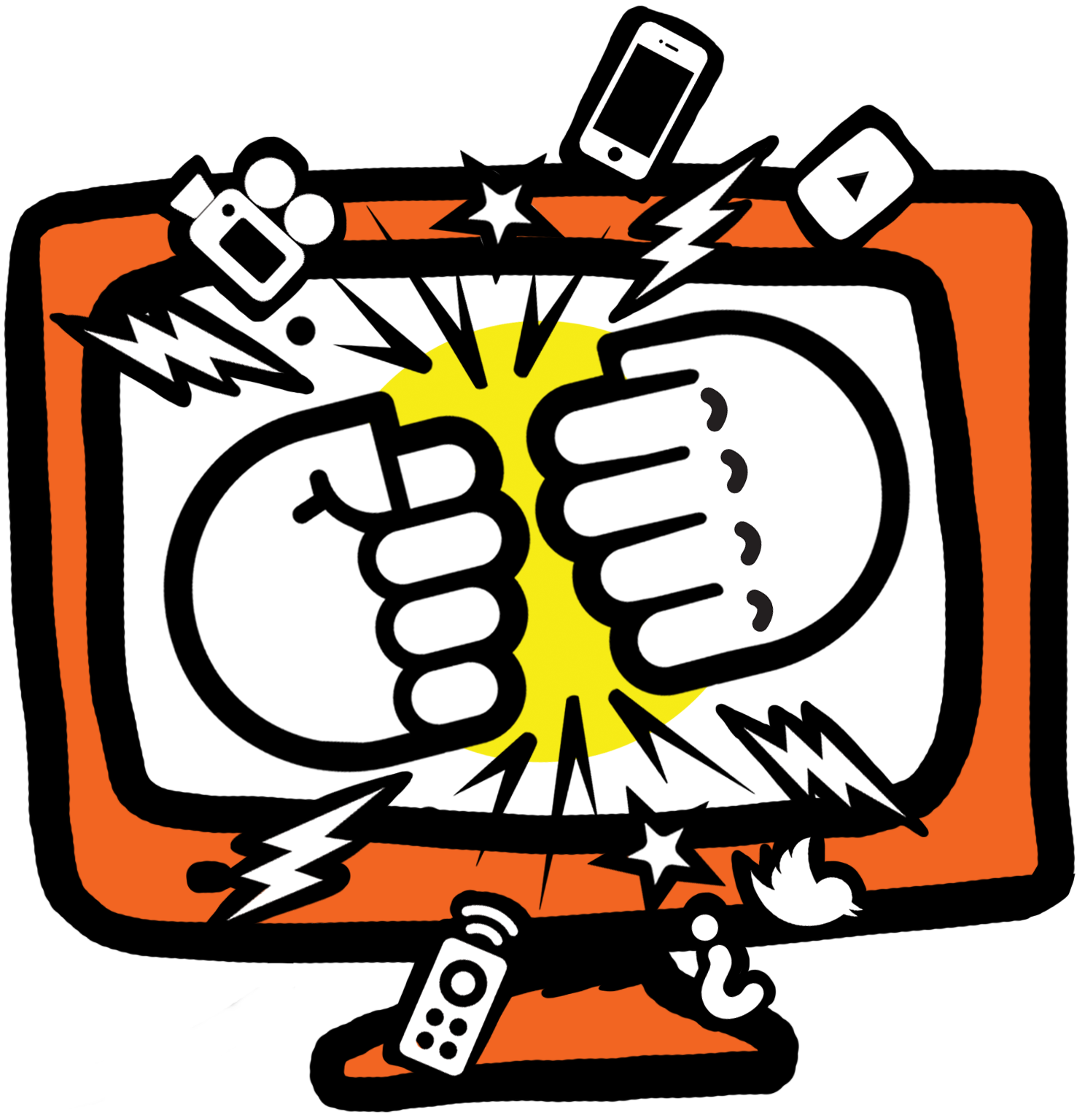 Bangarang broadcast tv and. Square clipart telly