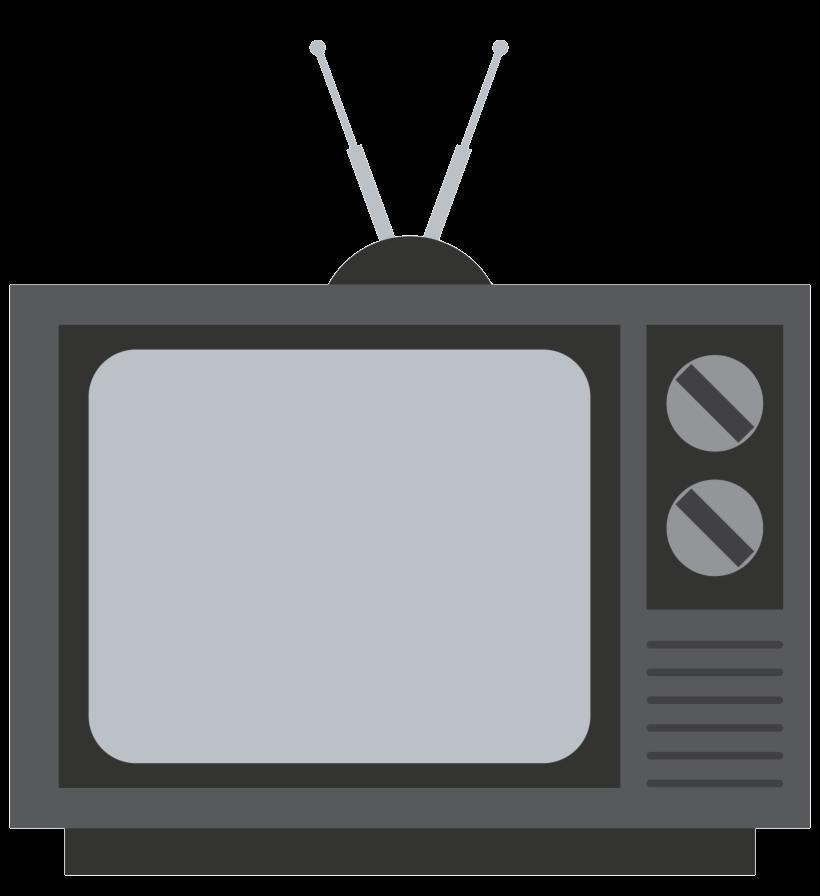 Old television image png. Clipart tv transparent background