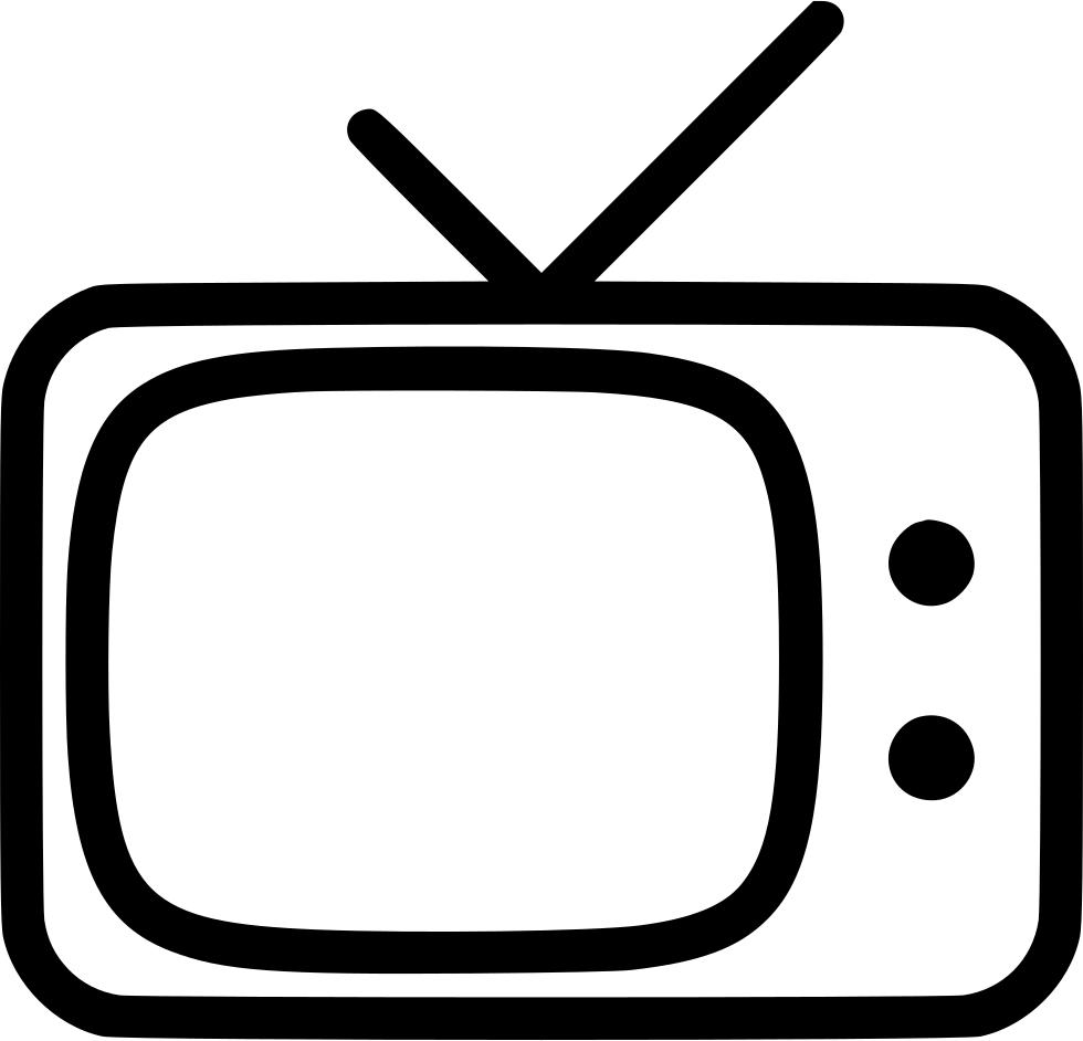 Old television png image. Clipart tv transparent background