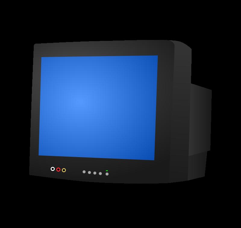 Television clipart blue tv. Crt medium image png