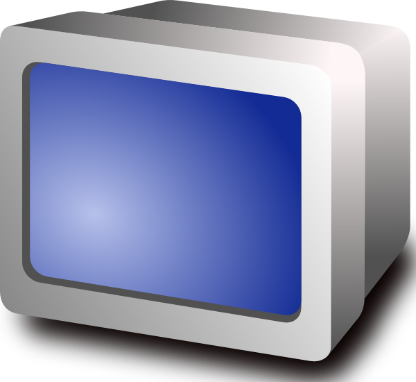 Display clip art at. Television clipart crt tv