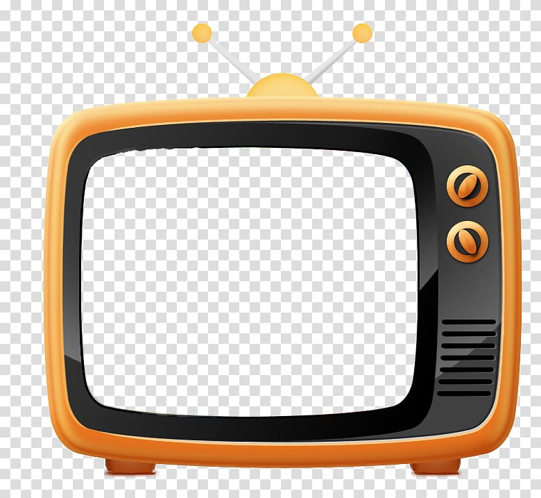 Television clipart round object. Retro tv box transparent