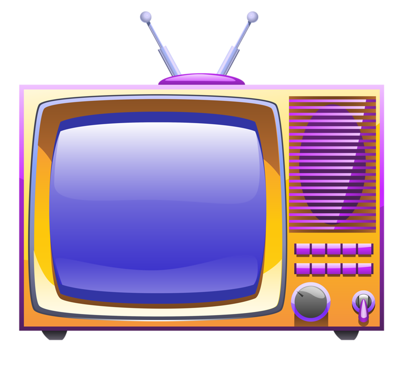 Set cartoon broadcasting illustration. Television clipart square thing