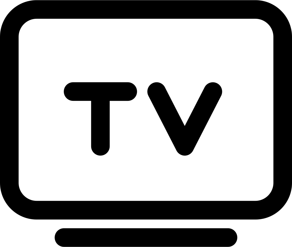 Flat panel svg free. Tv icon png